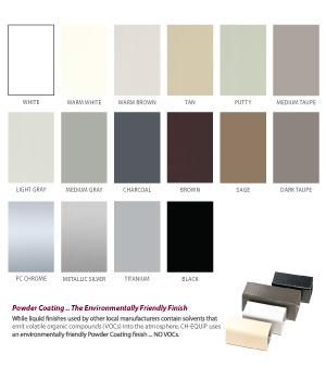 Finishes - Standard Frame Colors